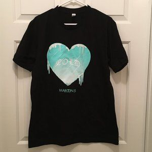 New Maroon 5 Cold Heart Concert Tour T-Shirt Large